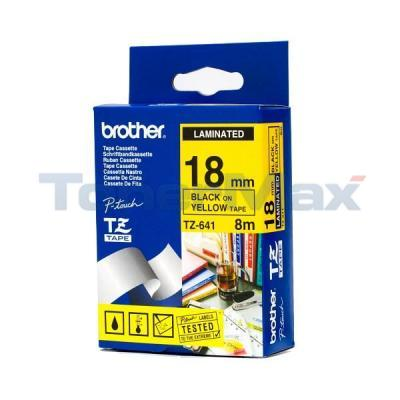 BROTHER P-TOUCH TAPE BLACK/YELLOW (3/4 X 26)